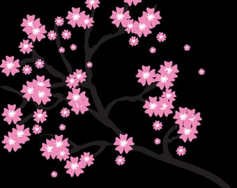 Cherry Blossom Branch embroidery files