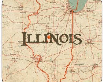 Illinois Coasters & Other Merchandise
