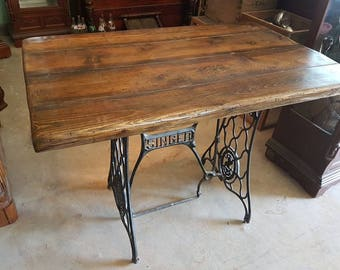 Antique cast Iron base side table