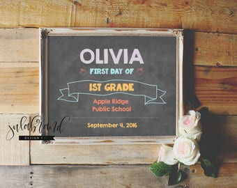 FIRST day of SCHOOL - Editable PDF Design