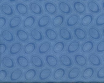 KAFFE FASSET ABORIGINAL blue round dots fabric