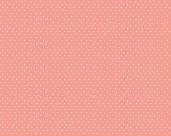 1 Yard Heart and Soul by Deena Rutter and Seek Good Works for Riley Blake Designs - 6704 Coral Heart Triangle