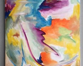 dancing color I- original oil painting