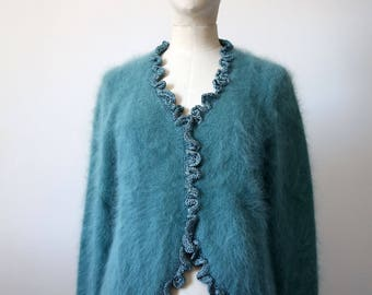Blue Angora sweater