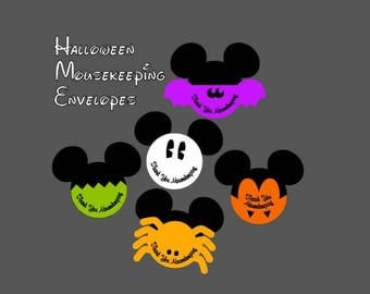 Restocked!! Our Original Set of 5 Halloween Mousekeeping Envelopes