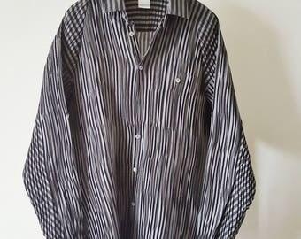 Issey Miyake Men shirt grey/black origami size M