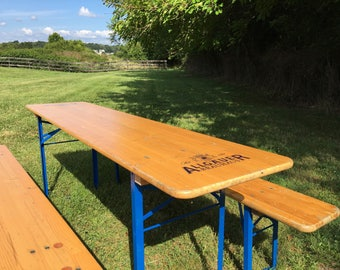 Allgäuer Original German Beer Garden Tables, pick nick table, Oktoberfest, Munich beer table PLEASE READ!!!