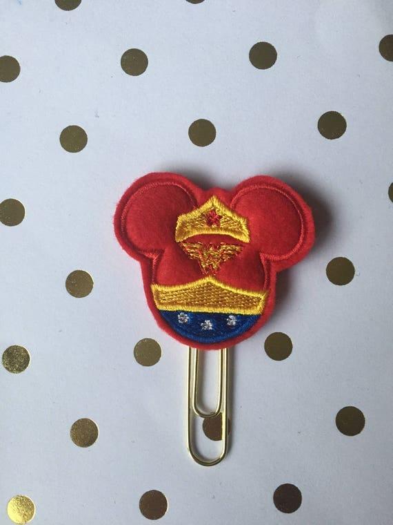 Wonder Woman mouse planner Clip/Planner Clip/Bookmark. Character Planner Clip. Mouse Planner Clip. Super Hero Planner Clip