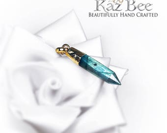 Labradorite Pencil Charm Necklace