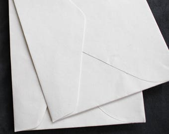 Envelopes / Handmade recycled cotton rag envelopes, fine art paper, pointy flaps, cut edge.