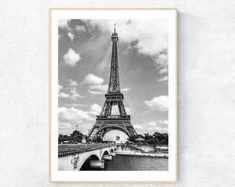 Love Paris, Eiffel Tower, Photography - Premium Print