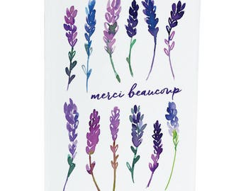 Merci beaucoup - Thankyou - Lavender - A6 Greeting Card