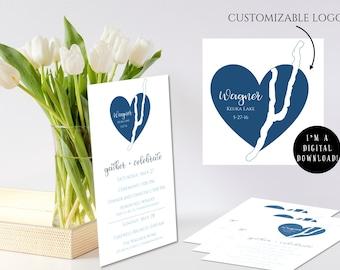 "Custom Wedding Logo - ""Keuka On My Heart"""