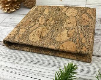 Vegan Cork Trifold Wallet - Christmas Gift for Men / Dad  - Coin Pocket - Card Holder - Handmade Wallet - Portuguese Cork -Gift for Him