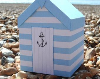 Beach Hut Gift Box - PDF Template