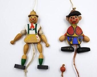 Vintage Jumping Jack Pull StringPuppets
