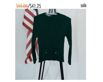 Vintage 70s Small Women's Green Sweater