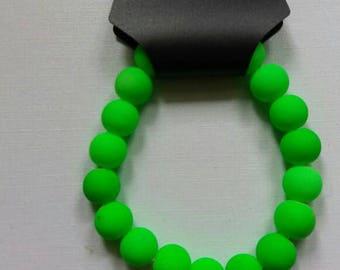 Neon green, blacklight reactive bracelet !
