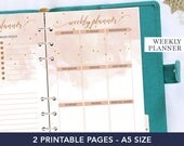 A5 weekly planner inserts, agenda 2018, desk accessories for women, a5 refill 2018, weekly planner 2018, printable planner, coworker gift