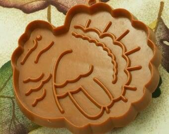 1980's Brown Hallmark Turkey Thanksgiving Plastic Cookie Cutter