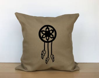 Dreamcatcher pillow, throw pillow, personalized pillow, embroidered pillow, custom pillow, custom gift, unique gift, gift for her