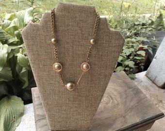 Robert Rose Gold tone beaded necklace