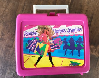 1990's Vintage Pink Barbie Lunchbox