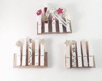 christmas decorations, christmas, decorative pegs, merry christmas, custom gifts, gifts for her, gifts for him, handmade, snowflakes, stars