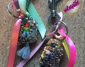 Artisanal Key chains/ Handmade Key chain / Key Chains with cause - 50% of it's value is donated to a dog in need