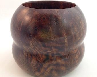 Black Walnut Burl Wooden Bowl