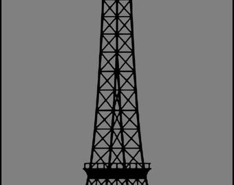Eiffel Tower Iron on /Eiffel Tower / iron on Eiffel Tower decal
