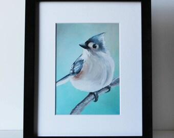 Titmouse Bird Art Print