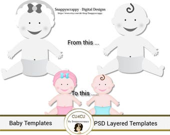 Baby Photoshop Layered Templates