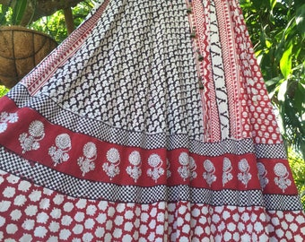 Reserved for Molly...Vintage 70's Indian blockprint skirt