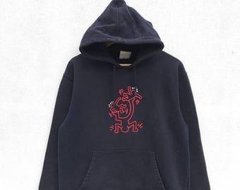 20% OFF Keith Haring Hoodie Sweatshirt Vintage Sweater/Vintage Keith Haring/Vintage Sweatshirt/Pop Art Clothing
