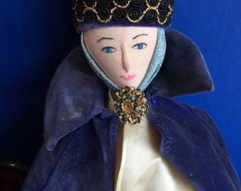 Handmade Cloth Doll Minerva