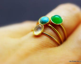 Gold 3 mini rings size 53, rings