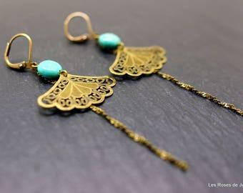 Earrings fan earrings