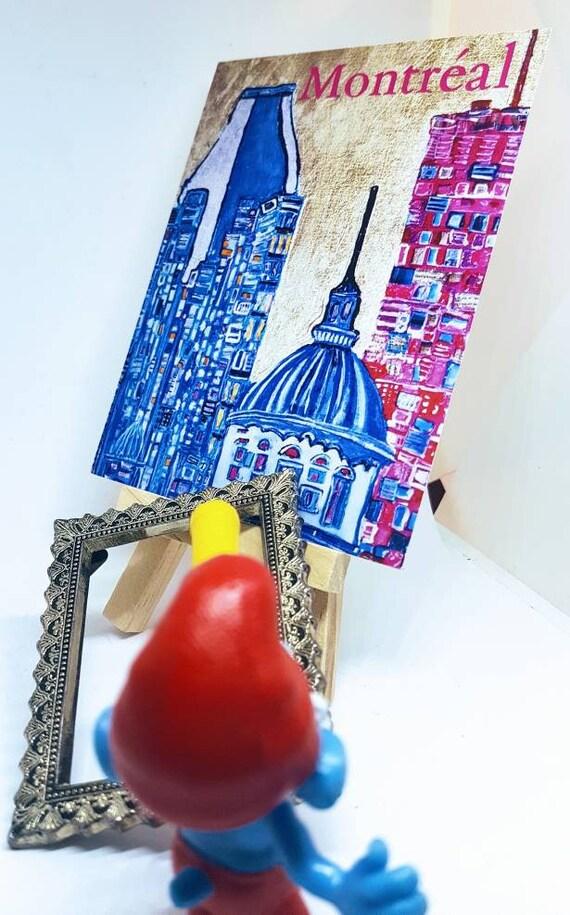 petite carte postale d corative march bonsecours de montr al. Black Bedroom Furniture Sets. Home Design Ideas
