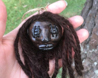 Miniature Shrunken Head, Mini Shrunken Head, Replica Shrunken Head, Shrunken Head, Miniature Replica, Replica Oddity, Oddity, Faux Taxidermy