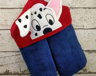 Spot Puppy Children's Hooded Towel - Baby Towel - Childrens Hood Towel - Bath Towel - Beach Towel - Personalized Towel - Character Towel