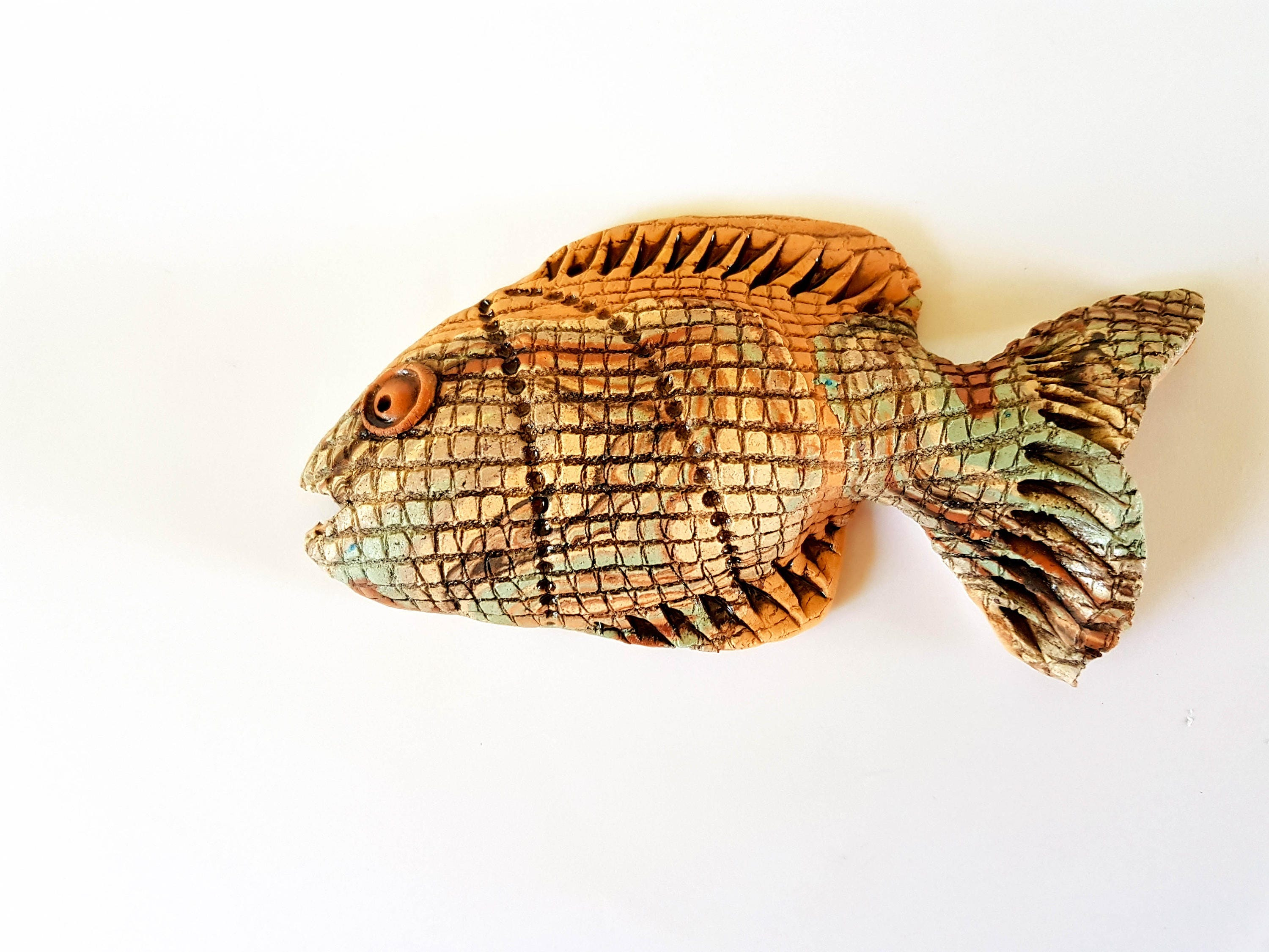 Free shipping wall decoration ceramic fish wall decor wall zoom amipublicfo Image collections