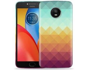 Motorola Moto E4 Case - Motorola E4 Case #Pixel Waves Hard Phone Cover
