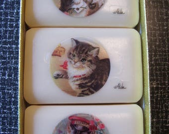 Alda's Forever Soap  French Milled Soap  Kittens NEW in box Vintage