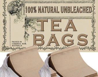 100% NATURAL UNBLEACHED filter paper tea bags 50x70mm - 200pcs