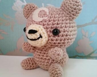Crocheted Teddiursa Pokemon Amigurumi Plushie