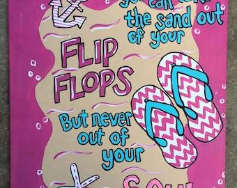 Beachy Flip Flops Painting