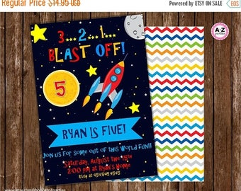 60% OFF Spaceship Birthday Invitation, Printable DIY, Cars Party, Lightning McQueen personalized invitation, space blast off, rocketship out