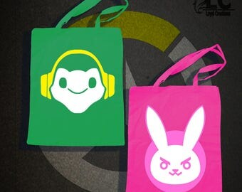 Overwatch-Lucio & D.VA Tote Bag