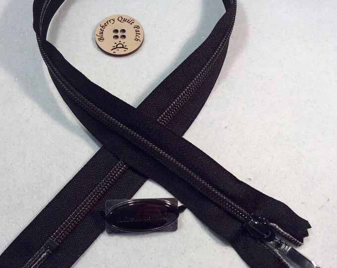 """Black """"VIZZY"""" Zipper # 5"""